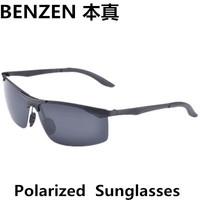 2014 Men sunglasses  Classic Men Sunglasses driver driving  glasses Metal Sunglasses For Men with case black 2039A
