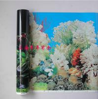 Free Shipping! Aquarium Accessories Double Color Background Water Plants Pattern Fish Tank Decoration 100 cm