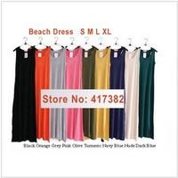Free shipping,2013 Summer new style/Bohemian long dress/ modal beach dress/maxi tank long dress