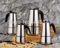 Italian original single black handle classic Moka coffee pot 2 cups
