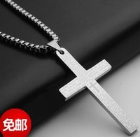 Don't rub off  Personalized cross necklace male necklace male fashion titanium male boys hangings freeshipping