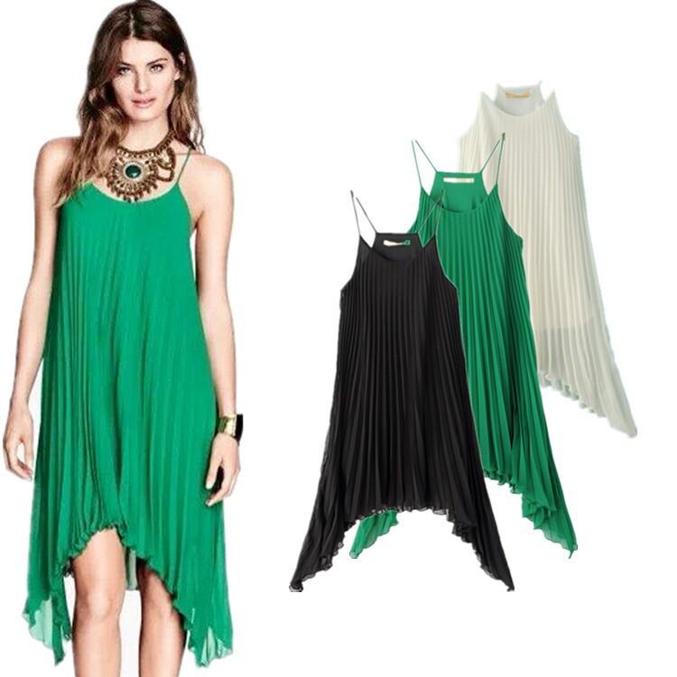 Long green chiffon dress uk