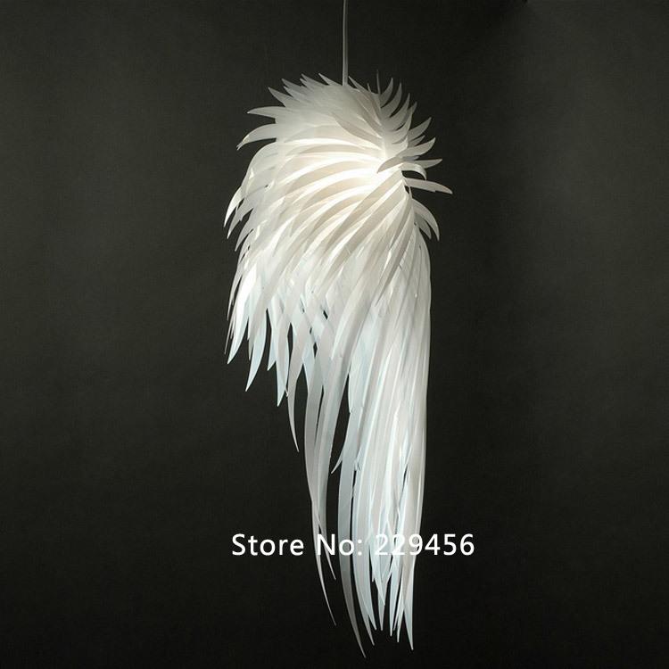 Pendant Light Romantic Angel Wings PVC Feather Icarus Personality IKEA Bedroom Decor E27 110-240V(China (Mainland))