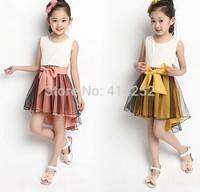 Free Shipping 2014 New Summer Kids Clothes Children's Lace Vest Dress Girls Dance Dresses Retail CZ-6035