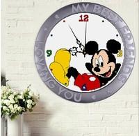 Needlework Arts Home Decor Crafts Kits  Diy Embroidery  Cross Stitch Sets Mouse Clock