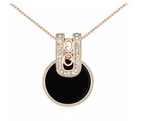 Fashionable Necklace Chain 2014 New  Arrival 18K  Gold Plated  Wedding Necklaces For Brides Rhinestone Charm Pendant   13477