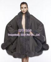 BG70114-2  Rear Cashmere Shawl With Fox Fur Trimming Wholesale Retail Fashion Shawl