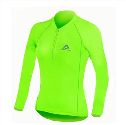 2014 AUTULA ciclismo visto de mangas compridas jaqueta de secagem rápida da transpiração fluorescência Lvchun verão montando Coat para mulheres(China (Mainland))