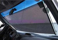 Black Car Auto Window Roll Blind Sunshade Windshield Sun Shield Visor 58 x125cm free shipping