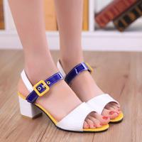 2014 women's sandals thick heel  Sandals women's open toe shoes sweet summer shoes