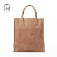 Kilikili spring and summer new arrival fashion vertical 100% women's simple leather handbag brief elegant genuine leather