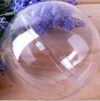 hot Free shipping 36 PCS/lot transparent wedding clear plastic ball festival candy box 6 cm wedding decorations hollow ball