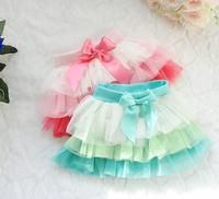 New 2014 Spring and summer girls pettiskirt baby  tutu skirt kids veil color of children's clothing wholesale 4pcs/lot  3082