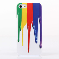2014 High Fashion Multicolor Printing Ink Plastic Hard Cover Cases for iPhone 5 5s  Best Sale  Free Shipping