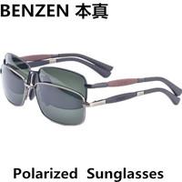 2014 Men sunglasses Classic Men Sunglasses driver driving  glasses Metal Sunglasses For Men with case black 2040A