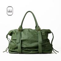 Kilikili spring and summer fashion green genuine leather bag brief strap decoration shoulder bag handbag