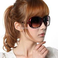 2014 hot sell women's fashion sunglasses big box sun glasses driving mirror sunglasses large sunglasses wholesale free shipping