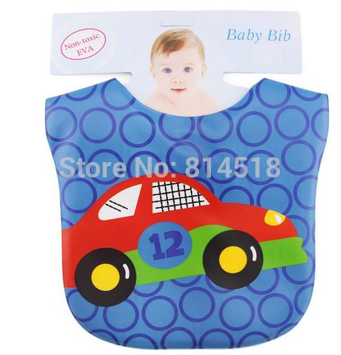 5pcs/lot waterproof baby EVA bibs apron cartoon infant feeding pinafore smock free shipping(China (Mainland))