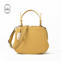 Kilikili summer yellow genuine leather small bags small cowhide handbag one shoulder cross-body bag small