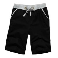 P45 2014 male strap knee-length elastic linen casual  shorts male size M/L/XL/XXL/XXXL