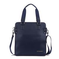 Man bag cowhide male shoulder bag messenger bag casual male bags color block clutch