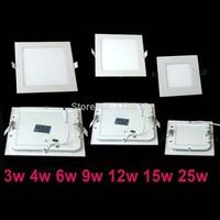 Free shipping 3w/5W/6W/9W/12W/15W/18W led panel lighting ceiling light DownlightAC85-265V , kitchen light indoor lighting