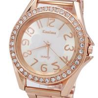 High Quality Rhinestone Design Women Dress Watches, Fashion Women's Rose Gold Watch