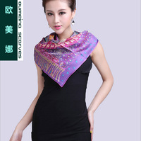 Oumeina Women's silk square scarf Hangzhou  Counters quality  revival style   88cmx88cm with digital floral printed LJD-S035