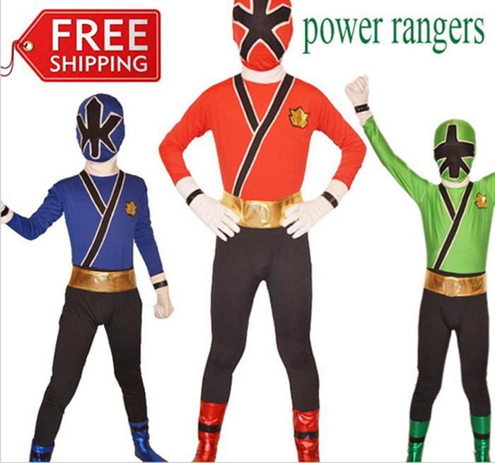 power rangers costume blue kids samurai cosplay children halloween costumes for kids superhero spandex bodysuit zentai custom