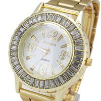 New Immigrant Women Watches, Geneva Steel Band Watches, Rhinestone Dress Watch