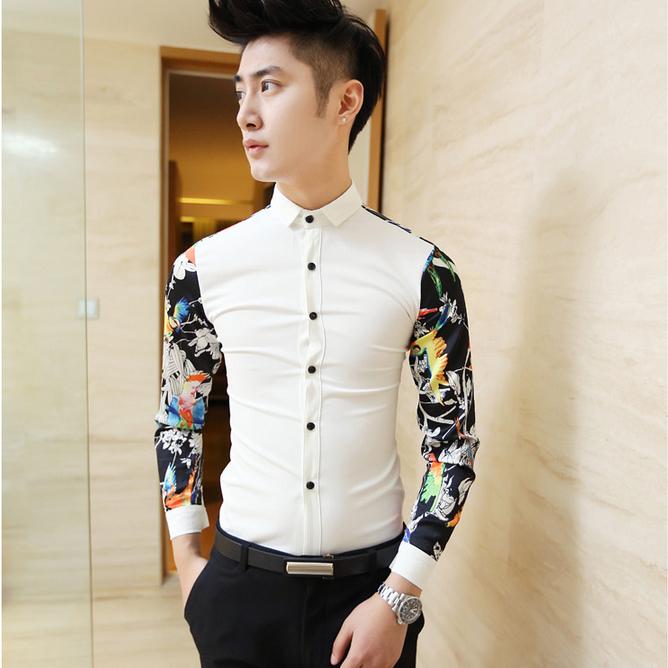 fashion summer dress men shirt floral mens designer clothes casual men