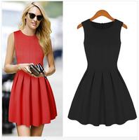 New 2014 spring and summer Fashion women's dresses big princess tutu Sleeveless dress women Free shipping WC1165 FY