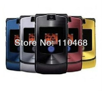 freeshipping 10pcs/lot v3i phone 100% original razr mobile phone  can choose Russian Menu Russian Keyboard