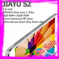 "White In stock JIAYU S2 MTK6592 Octa Core 3G Smart Phone13MP Camera 5.0"" IPS Gorilla Glass Screen 1G RAM 16G ROM Free Ship"