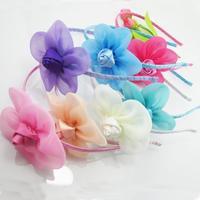 Free shipping Children sunflower rose buds hair hoop head band children hair accessories hair band baby girl a birthday present