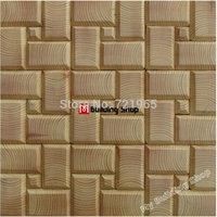 Natural wood mosaic tile NWMT078 wood wall tile backsplash wooden mosaic tiles pattern