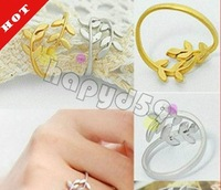 10pcs lady fashion alloy jewelry finger ring love tree branch leaves hand ring