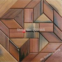 Rustic wood mosaic TV background wall tile NWMT085 wood parquet mosaics tiles backsplash