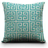 Turquoise Pillow Cover - 18 x 18,Teal Blue Pillows Decorate , Modern Geometric Pillows Cushion Covers ,Modern Decor,Pillowcase