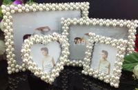 "zinc alloy frames inlaid pearls&diamonds size 5"" rectangular  wedding photo frame bridal gifts 9012#"