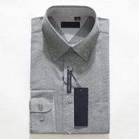 Free Shipping New 2014 Hot Sell Dress Shirt Slim Fit Stylish Grey Color Long Sleeve Shirts Men's Designer Grey shirt M-XXXXXL