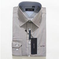 Free Shipping New 2014 Best Price British Style Dress Shirt Slim Striped Long Sleeve Shirts High Quality  Top Brand Shirt Men