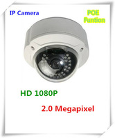Full HD 1080P 2MP Real Time Vandalproof IR IP nework Camera Onvif POE Web Camera for security system