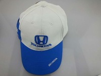 2014 Hight quality Honda embroidery snapback 100% cotton cap leisure cap hat baseball cap  Blue white Drop shipping