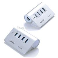 ORICO M3H4 Aluminum 4 Port Super Speed USB3.0 Hub VL812 Controller for Mac PC Silver