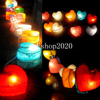 Hot LED Chandelier Xmas Light Luminaria Home Decoration Navidad Luminous Lamps 3 M Holiday Lighting Hearts Pendant String Lights