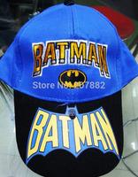 100pcs/Lot Free Shipping !The Newest Batman Sport Cap Cartoon Children's Hats Sun Caps Summer Beret Cap A3306 Wholesale