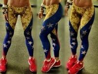 Sexy 2014 Women Punk Ladies Leggins Sports Fitness Legging Womens Star Elastic Waist Galaxy Leggings Drop Shipping S106-440