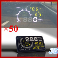2014 New Arrivals Car HUD Showing OBD Insert Head Up Display KM/h & MPH Speeding Warning OBD2 System Consumer Electronics