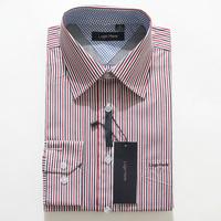 Free Shipping New 2014 Classic Striped Double Collar Dress Shirts Famous Designer Long Sleeve Luxury Men Business 5xl Shirt